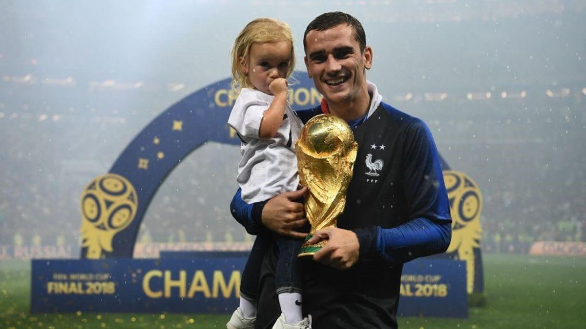 Antoine Griezmann și fetița sa, Mia