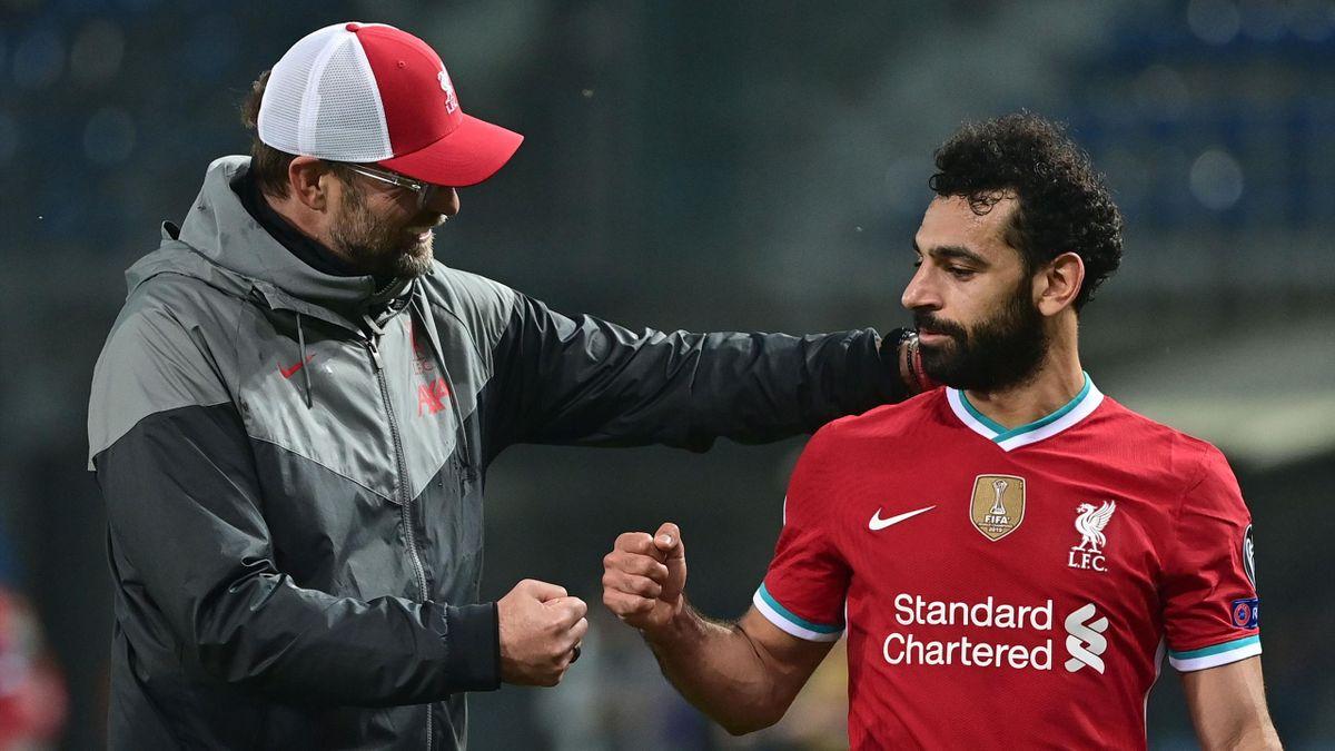 Jürgen Klopp (links) und Mohamed Salah - FC Liverpool
