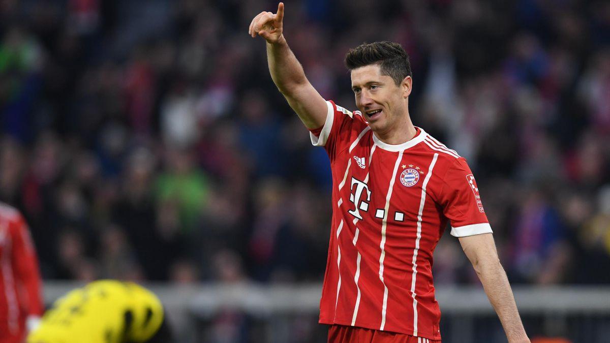 Robert Lewandowski (Bayern Munich) face à Dortmund