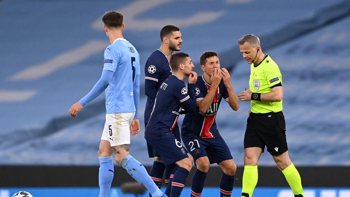 PSG-Spieler Marco Verratti und Ander Herrera beschuldigen den Schiedsrichter