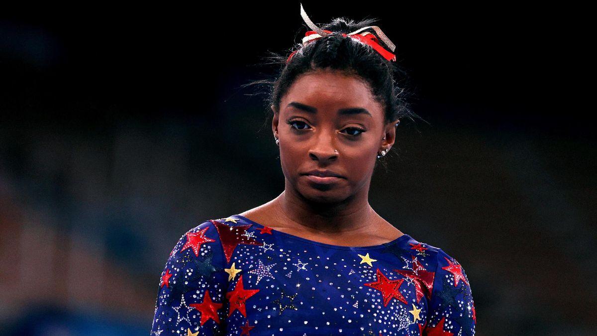 Simone Biles of Team United States looks