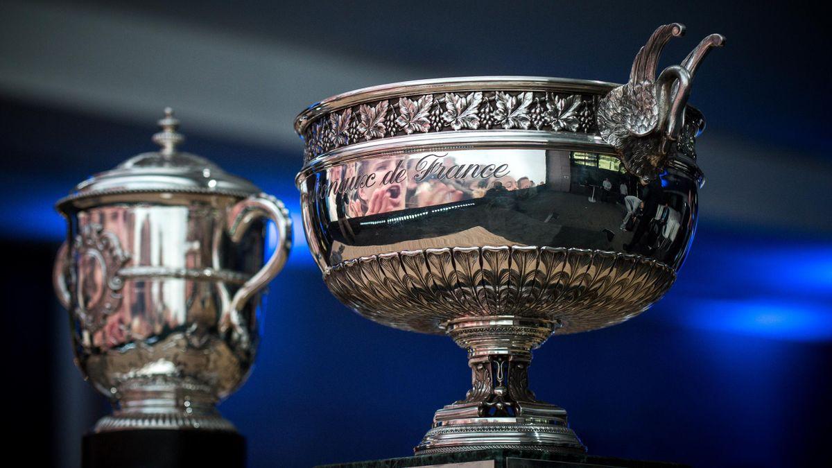 The men's trophy of the Roland Garros tennis tournament.
