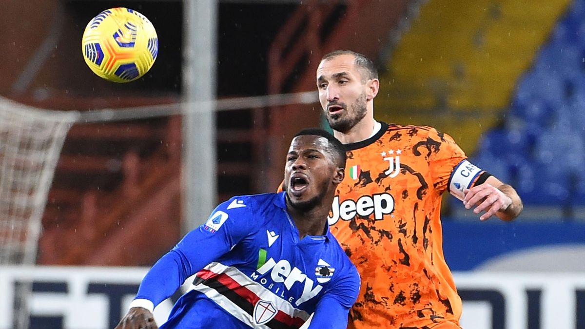 Giorgio Chiellini, Keita Balde, Sampdoria-Juventus, Getty Images