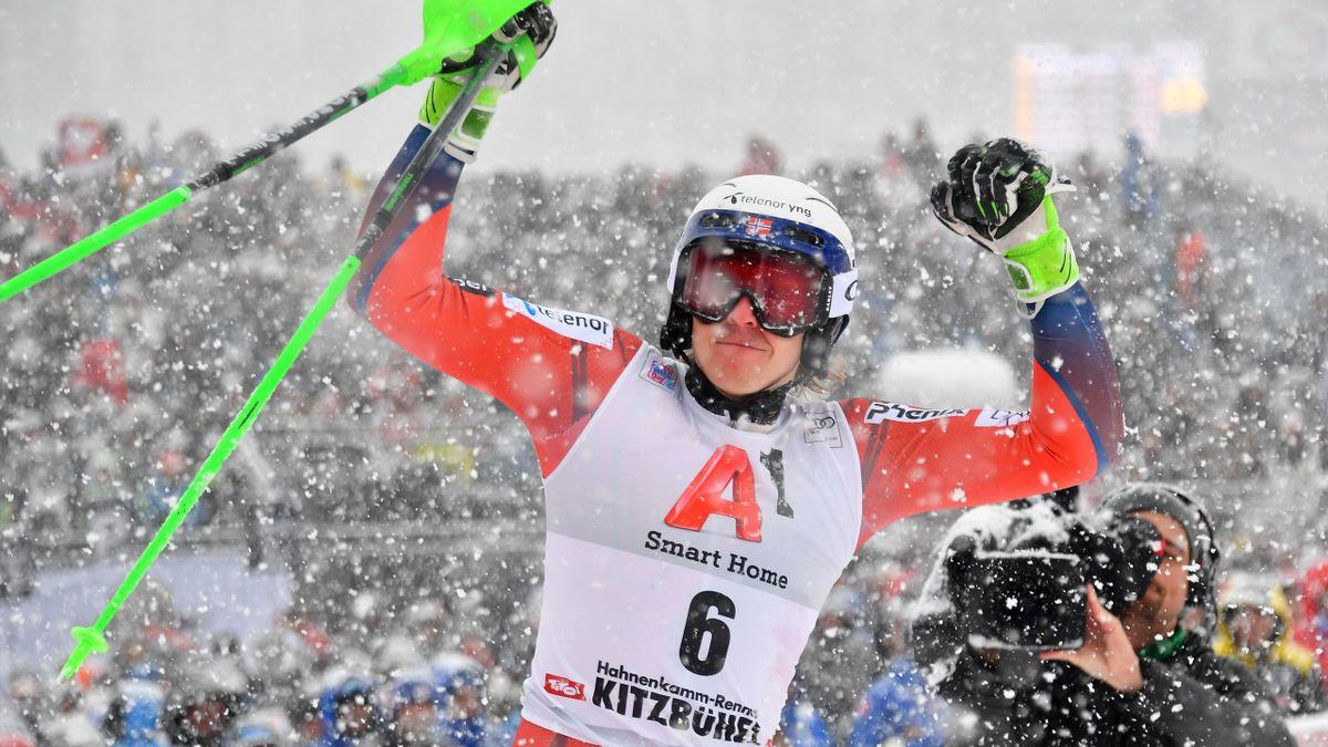 Henrik Kristoffersen in Kitzbühel 2018