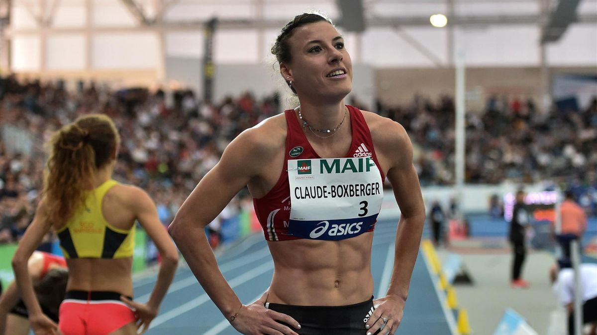 Ophelie Claude-Boxberger lors des championnats de France inddor 2019 à Miramas