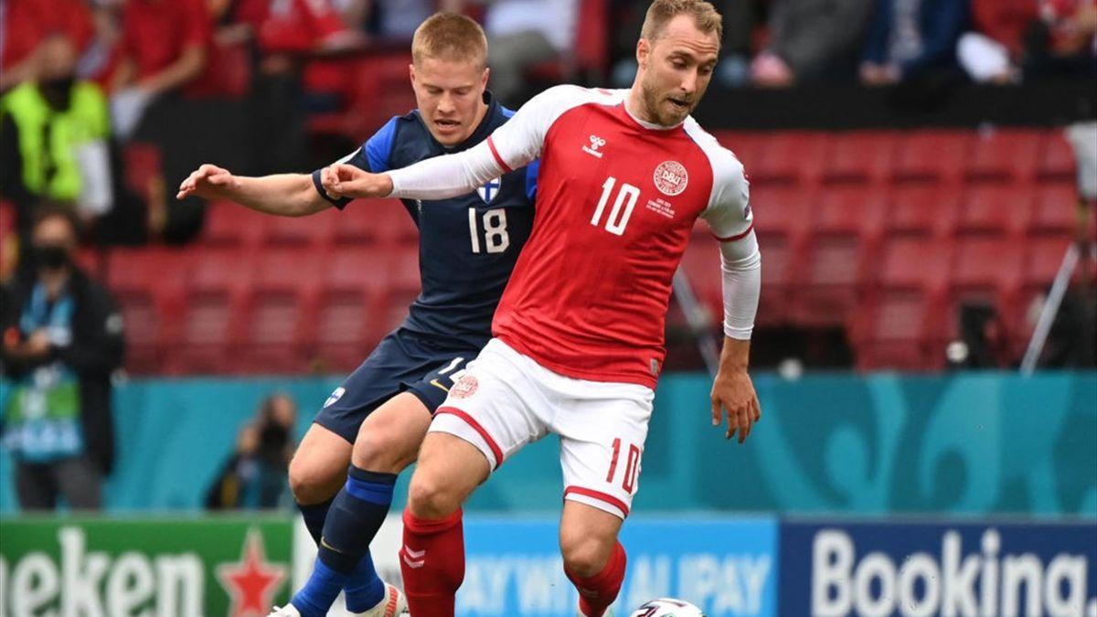 Кристиан Эриксен, Дания – Финляндия, Евро-2020