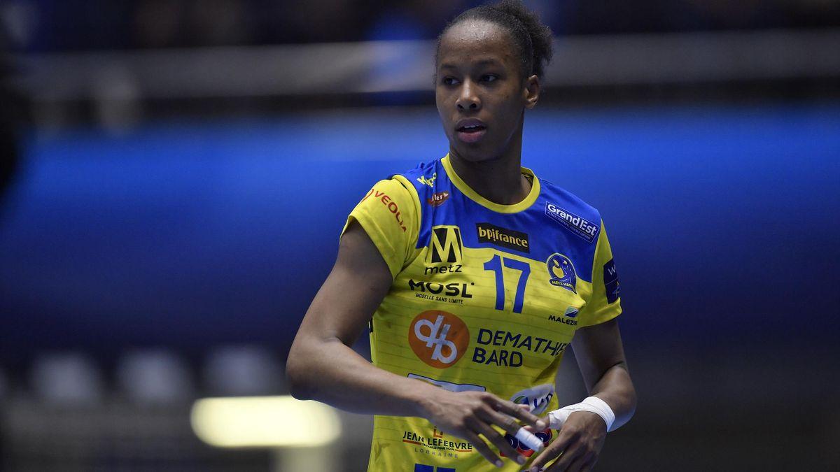 Orlane Kanor, joueuse du Metz handball, lors d'un match de Ligue des champions face à Bucarest - Février 2020