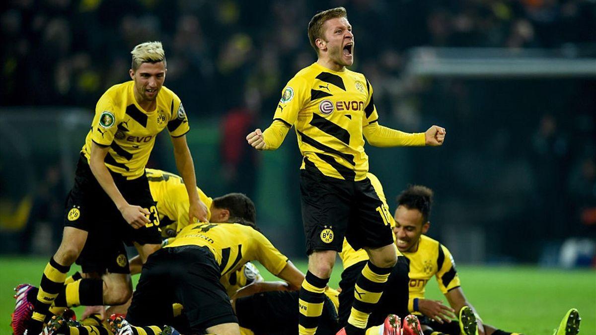 Jakub Blaszczykowski, Sebastian Kehl - Borussia Dortmund-Hoffenheim - 2015 DFB Cup - Getty Images
