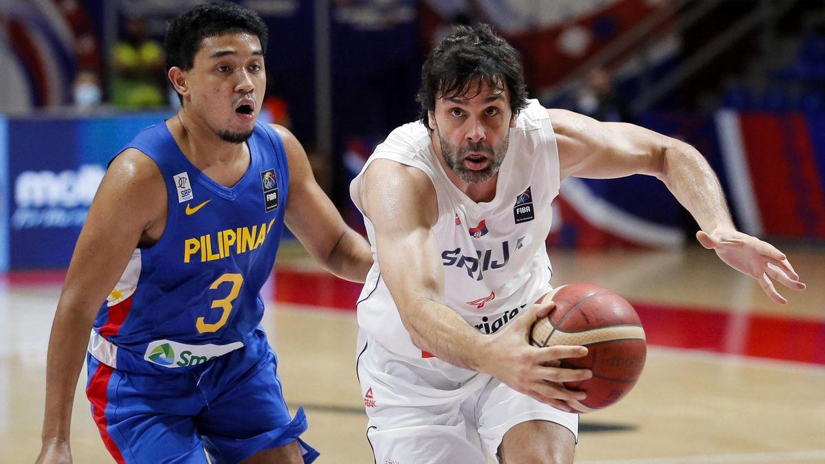 Milos Teodosic, Serbia-Filippine, torneo preolimpico di Belgrado 2021