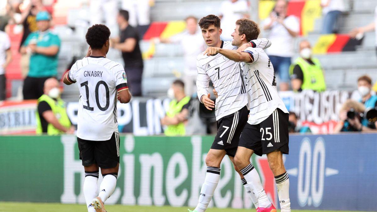 Germany celebrate their equaliser