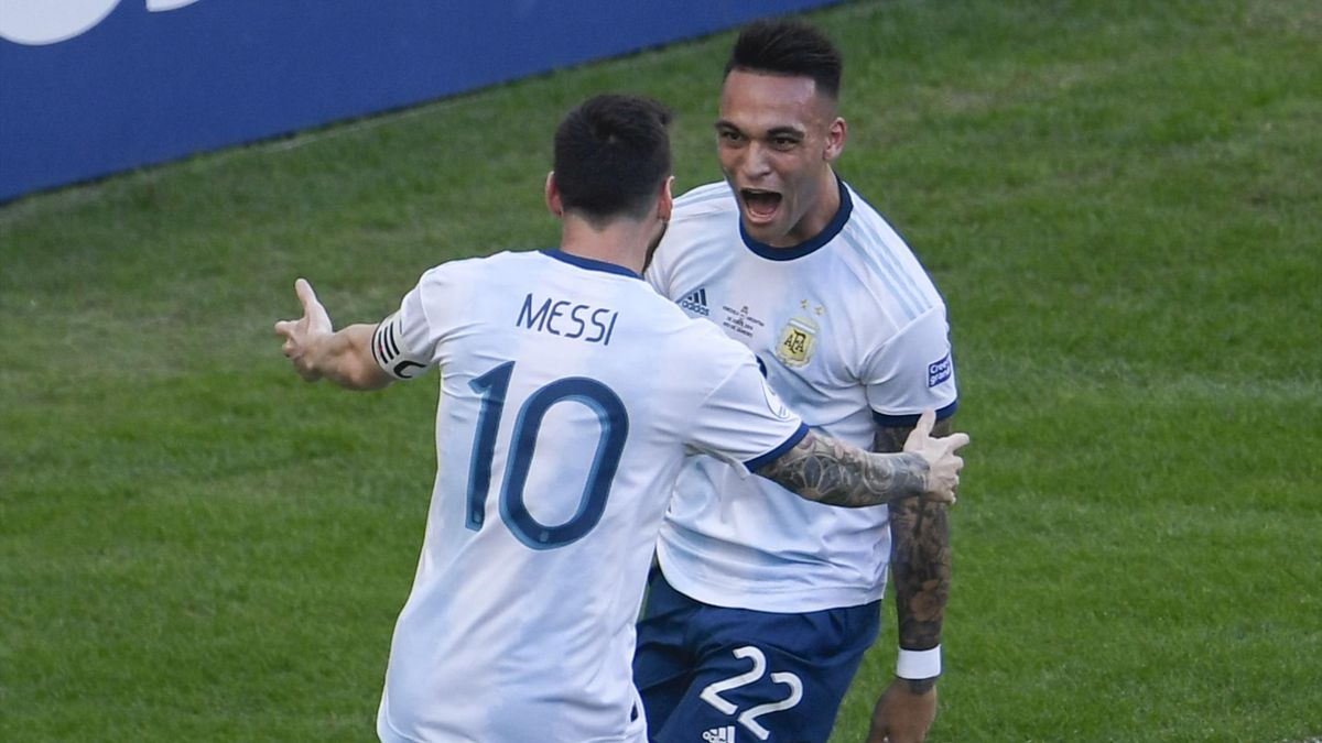 Lionel Messi și Lautaro Martinez, la naționala Argentinei