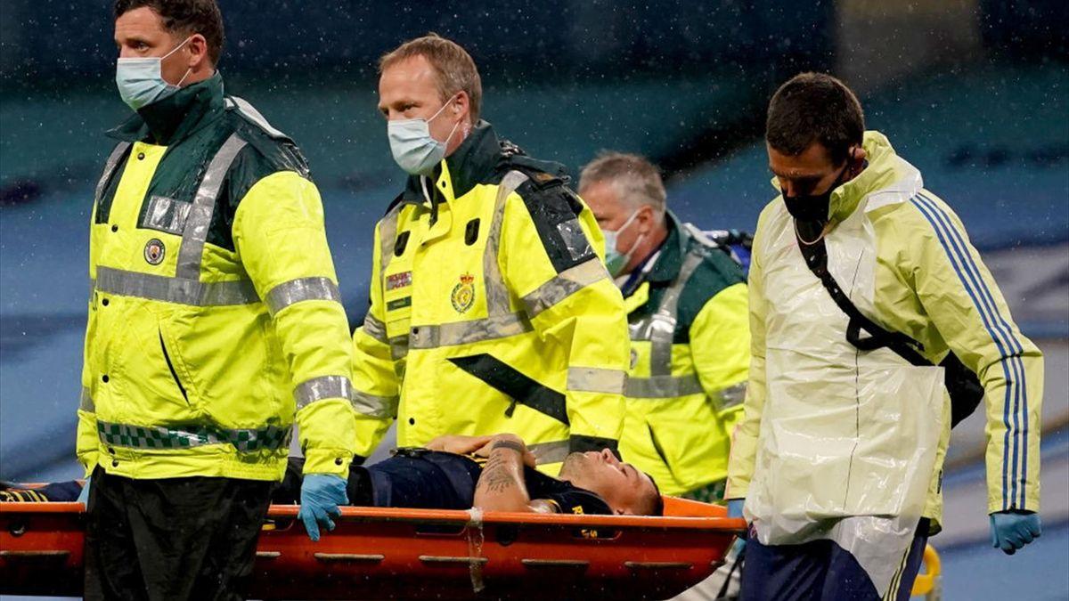 Xhaka s-a accidentat în debutul partidei cu City