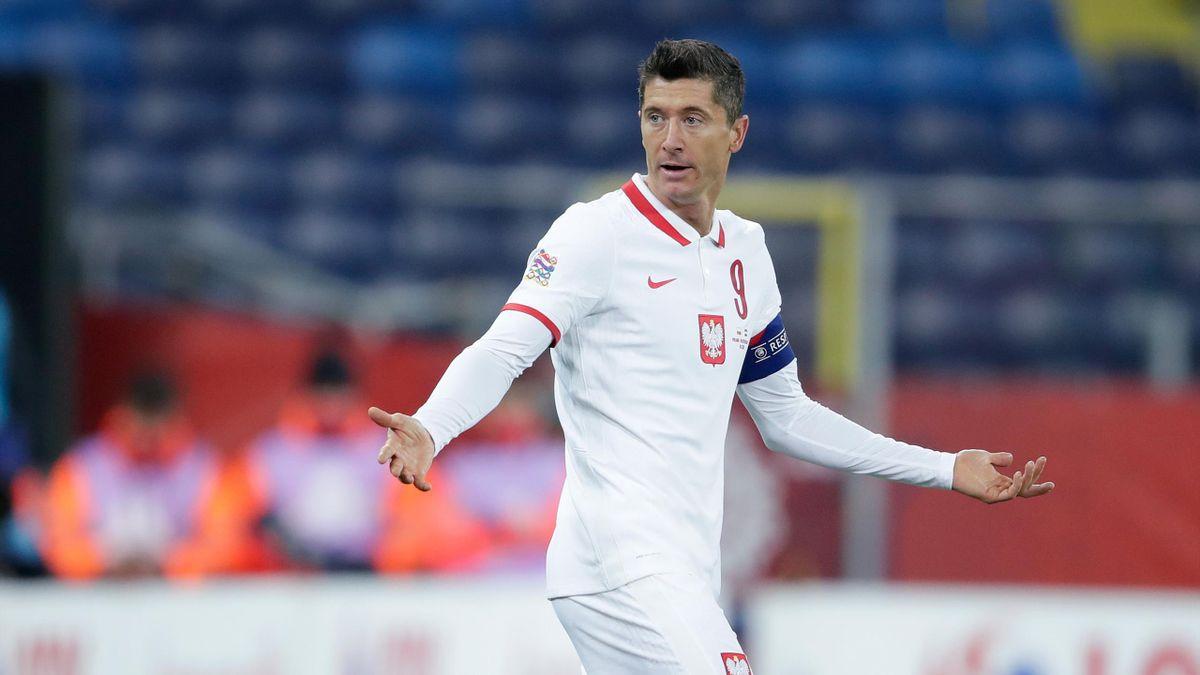 Poland captain Robert Lewandowski