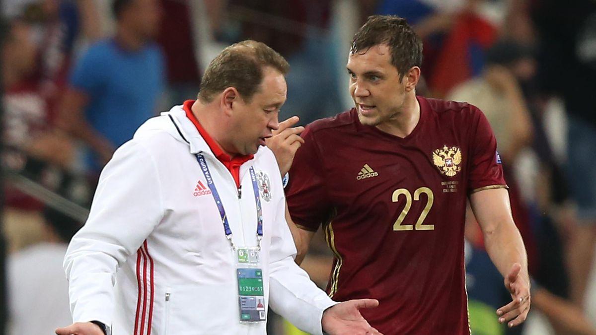 Леонид Слуцкий, Артем Дзюба, Россия, Евро-2016