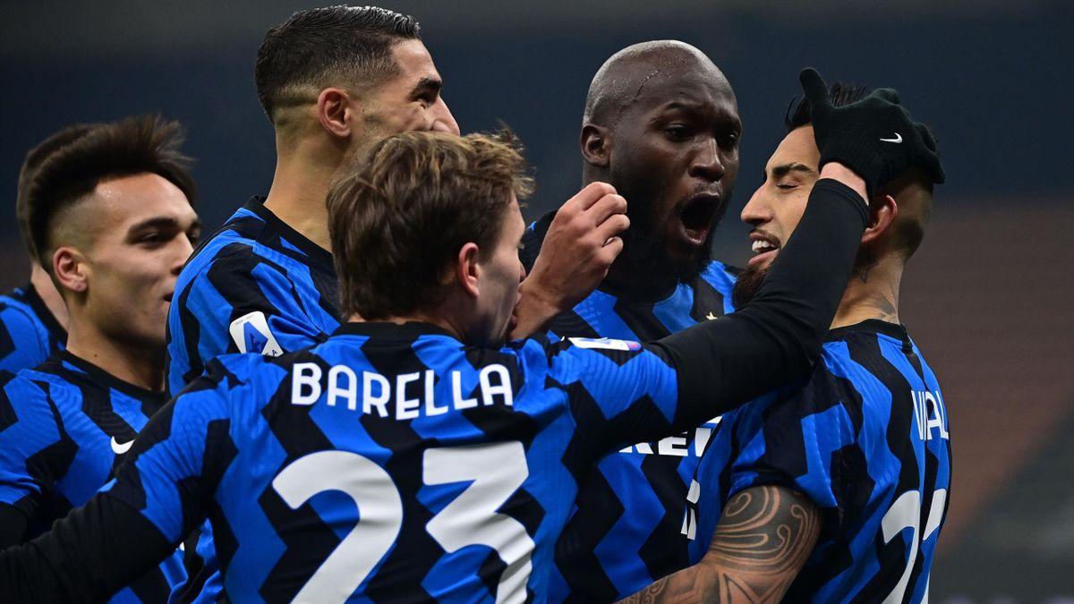 Inter Mailand jubelt über den Sie gegen Juventus Turin