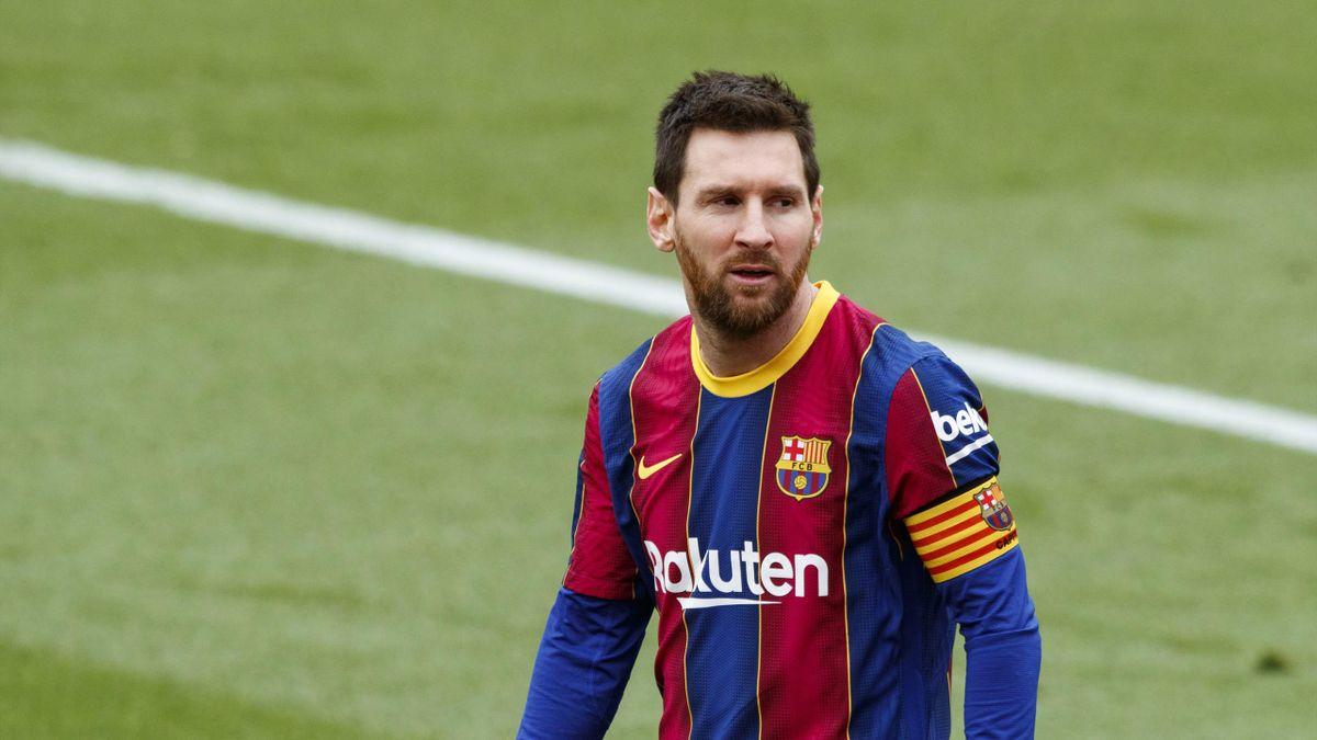 Leo Messi of FC Barcelona during Spanish La Liga match between FC Barcelona and Cadiz CF on February 21 of 2021, Barcelona, Spain