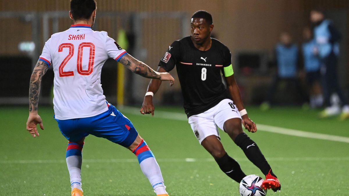 David Alaba bei der WM-Qualifikation