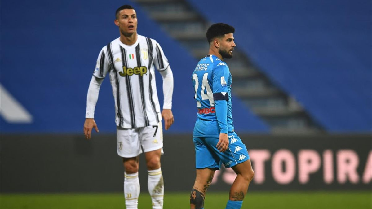 Cristiano Ronaldo, Insigne - Juventus-Napoli - Supercoppa italiana 2020/2021 - Getty Images
