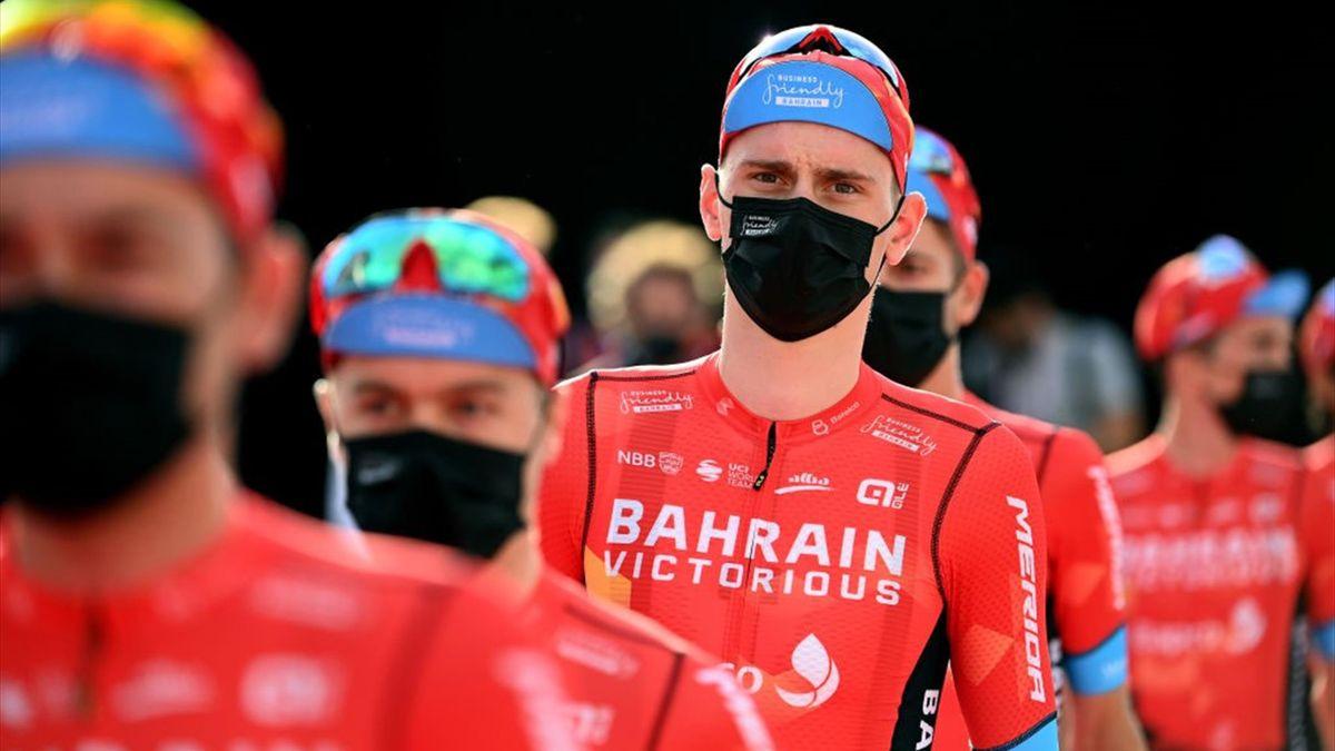 Matej Mohoric alla presentazione del Giro d'Italia 2021