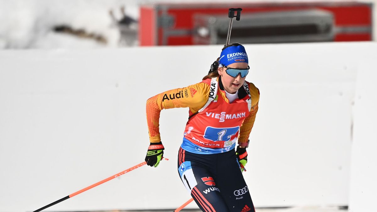 Franziska Preuß kämpft beim Weltcup-Finale noch um Rang drei im Gesamtweltcup