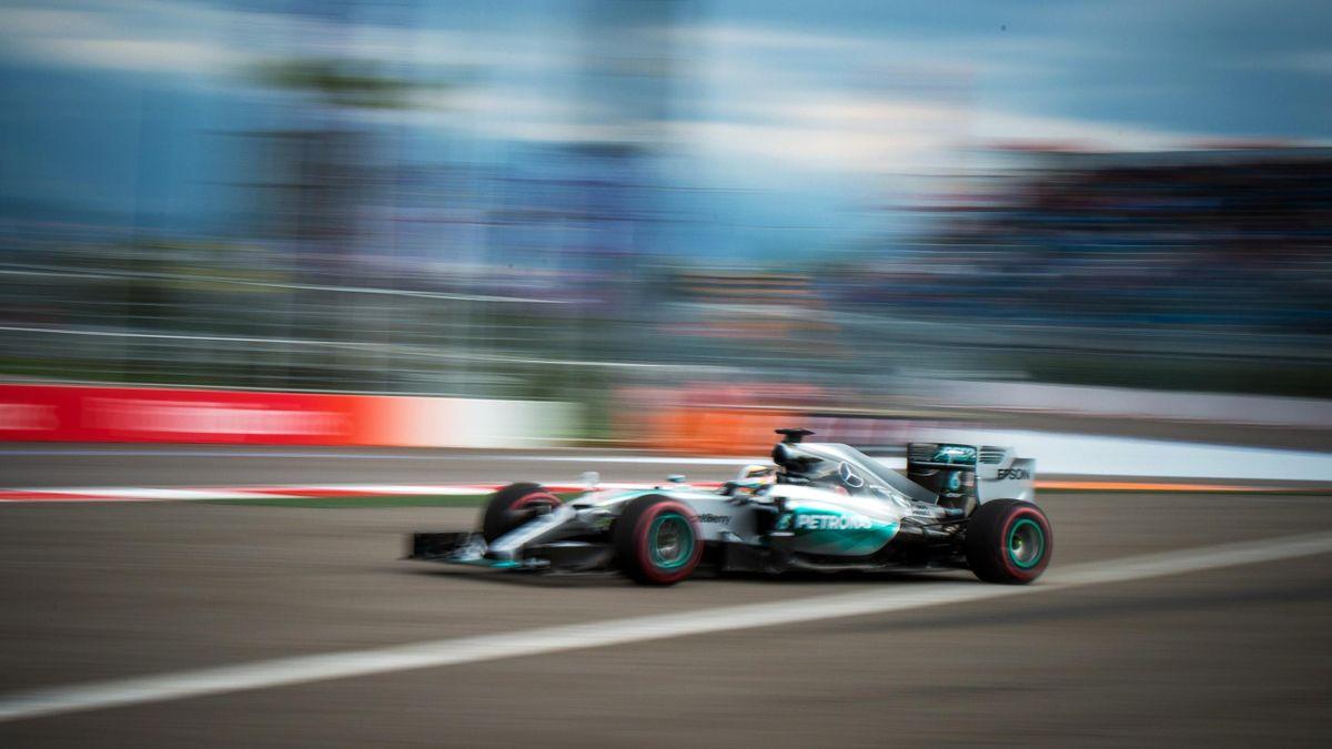 Lewis Hamilton (Mercedes) au Grand Prix de Russie 2015
