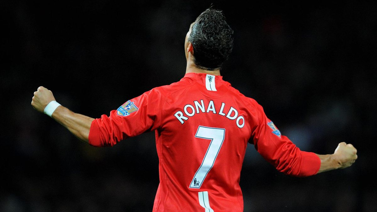 Cristiano Ronaldo sous le maillot de Manchester United
