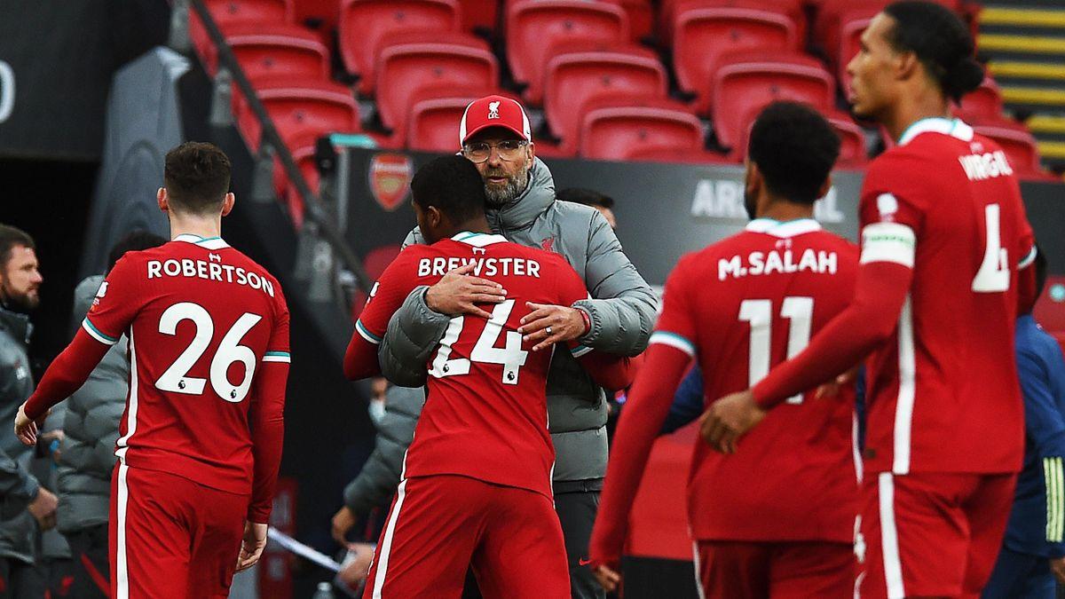 Jürgen Klopp mit den Spielern des FC Liverpool