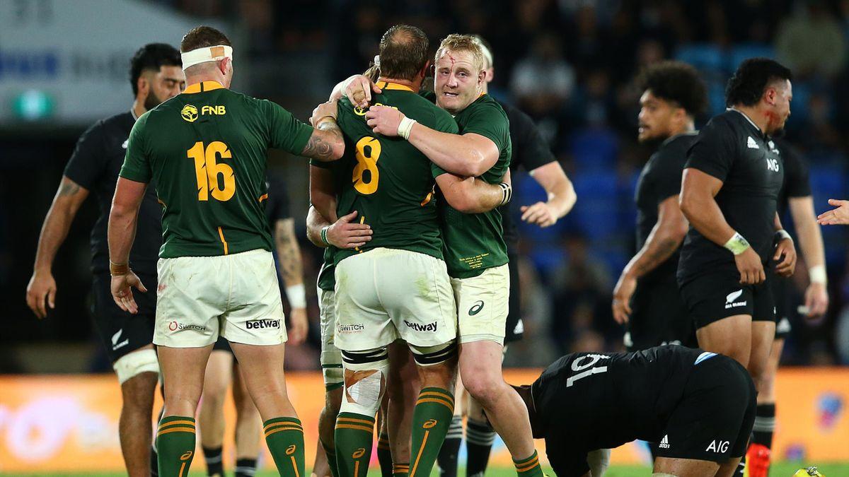 Il Sudafrica batte gli All Blacks sulla sirena: decide Jantjies