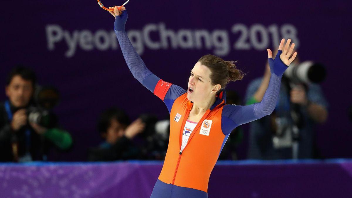 Ireen Wüst, championne olympique du 1500m à Pyeongchang, le 12 février 2018