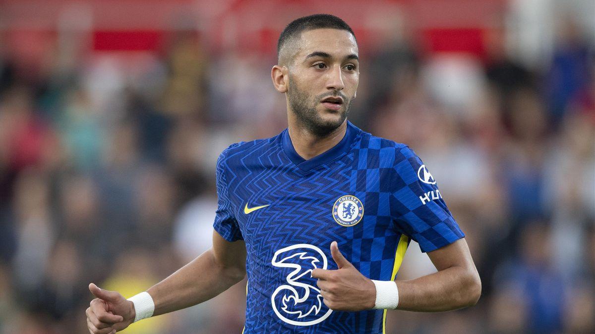 Hakim Ziyech, Chelsea, agosto 2021 (Getty Images)