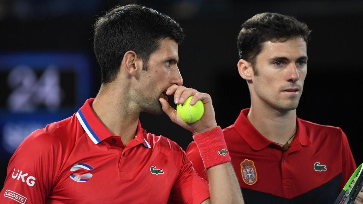 Djokovic e Cacic, Serbia, ATP Cup 2021