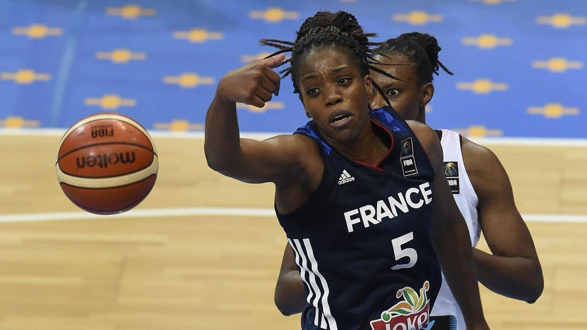 Edeme Miyem lors de la finale Espagne-France