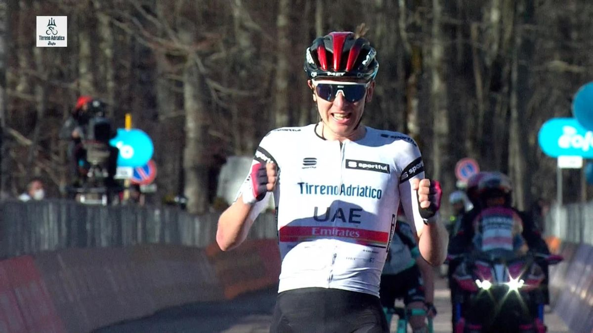 Tadej Pogacar holds off Simon Yates to take stage 4 and the overall lead