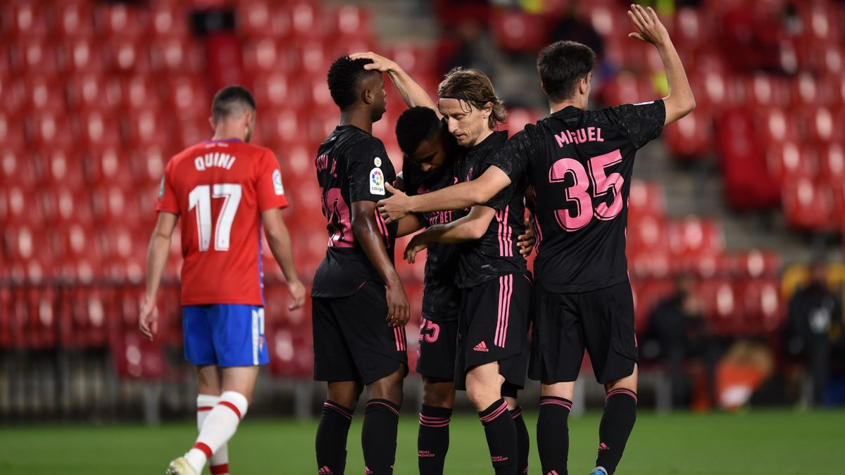 Real players celebrate