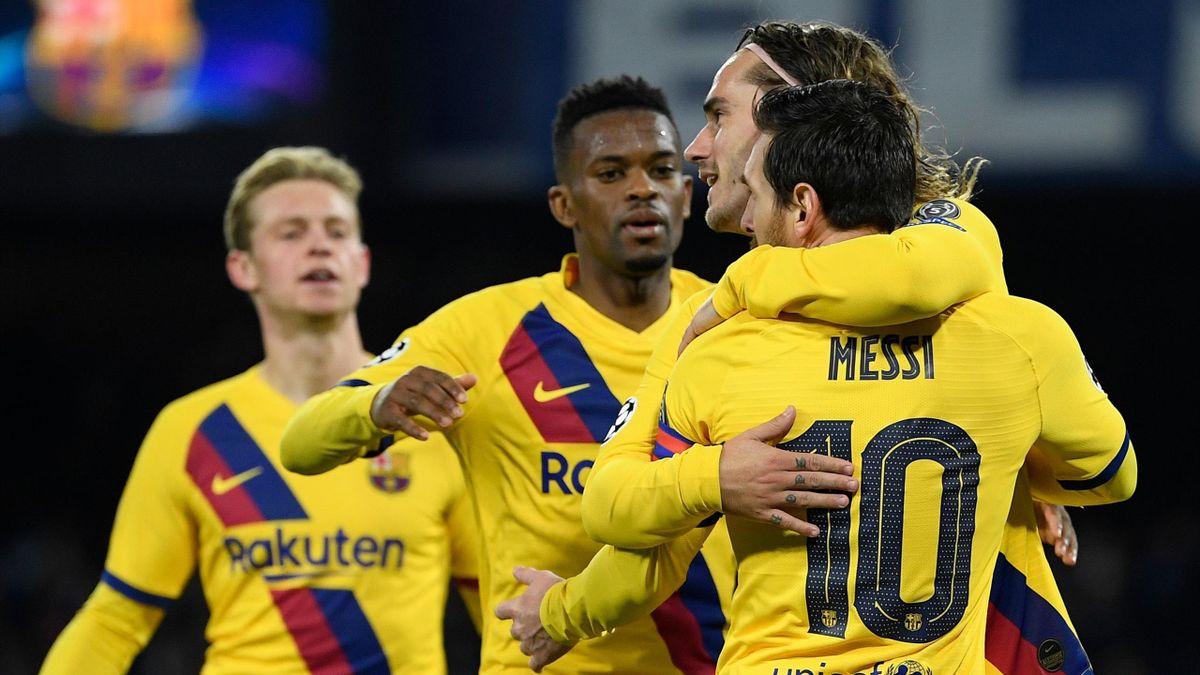 Jucătorii celor de la FC Barcelona