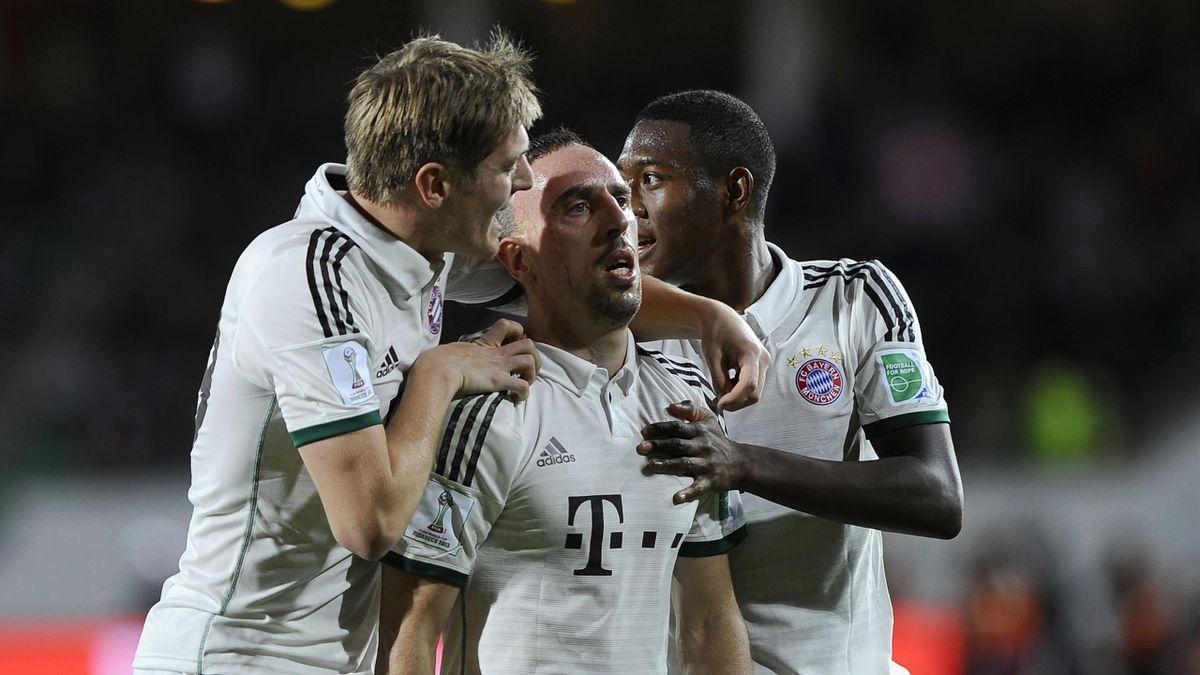 2013 gemeinsam für den FC Bayern: Kroos, Ribéry und Alaba (v.l.n.r.)
