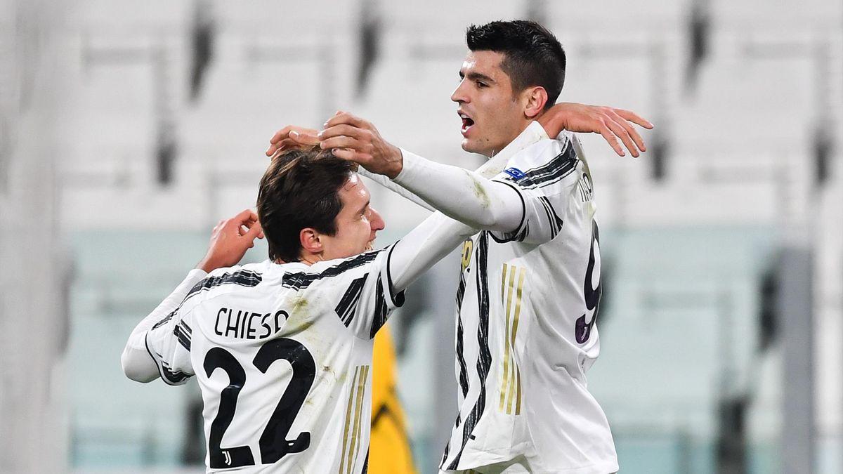 Ronaldo et Morata sortent la Juve d'un mauvais pas - Eurosport