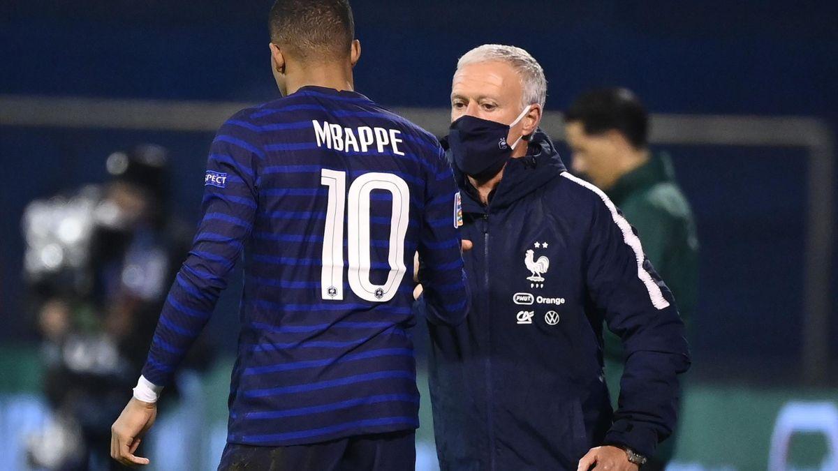 Kylian Mbappé et Didier Deschamps (France)