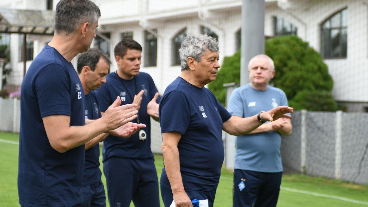 Primul antrenament al lui Mircea Lucescu la Dinamo Kiev