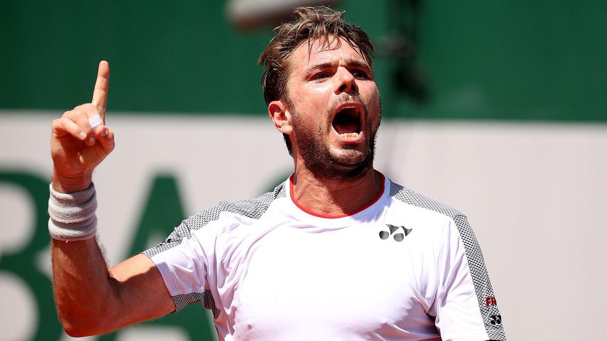 Stan Wawrinka à Roland-Garros.