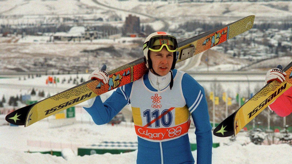 Matti Nykänen lors des JO de Calgary en 1988