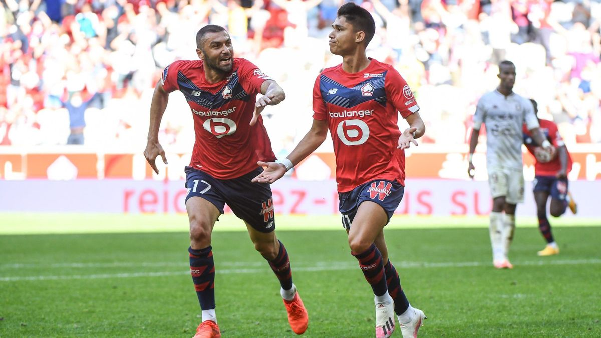 Luiz Araujo et Burak Yilmaz (Lille) contre Metz - Ligue 1