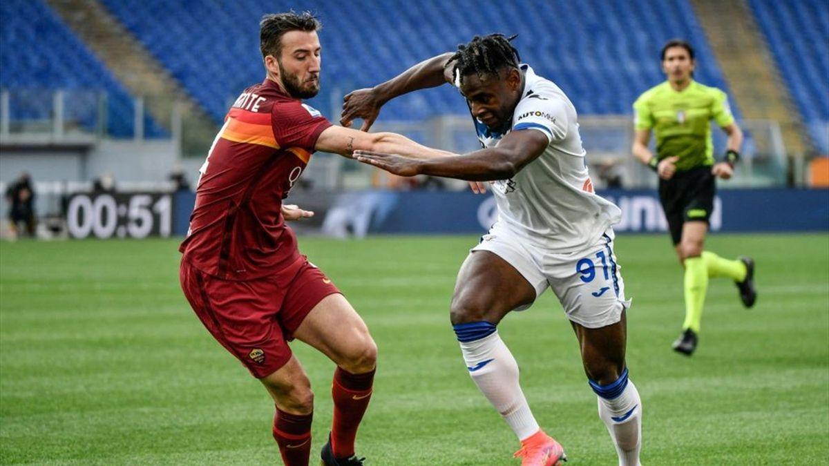 Bryan Cristante e Duvan Zapata - Roma-Atalanta Serie A 2020-21