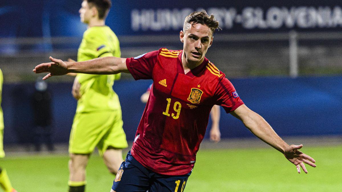 Dani Gómez, goleador en España Sub 21.