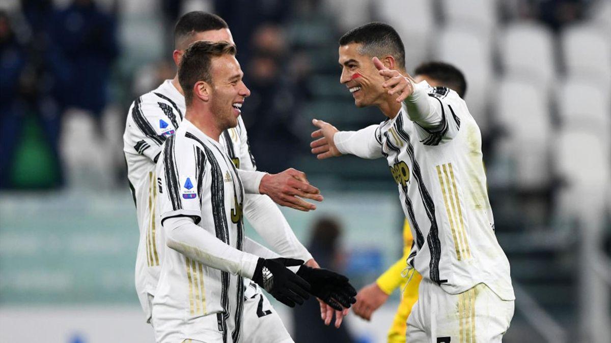 Arthur, Cristiano Ronaldo - Juventus-Cagliari - Serie A 2020/2021 - Getty Images