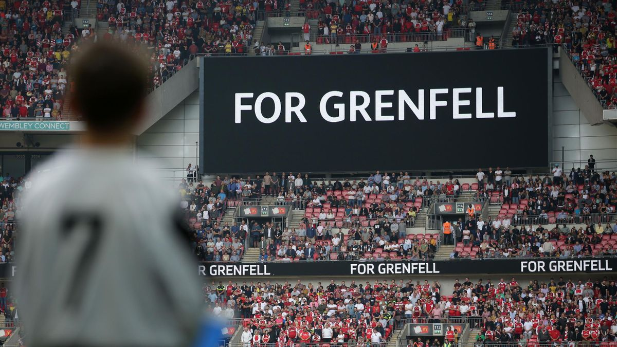A minute of silence is observed as a tribute to the victims of the Grenfell Tower block fire