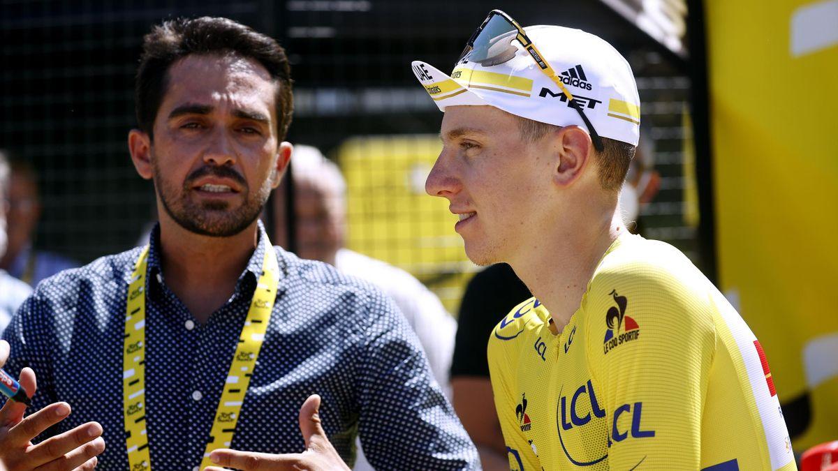 Tadej Pogacar et Alberto Contador.