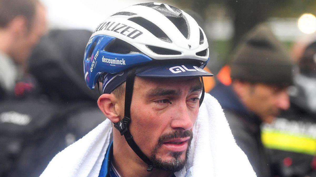 Julian Alaphilippe lors de la course en ligne des Mondiaux 2019.