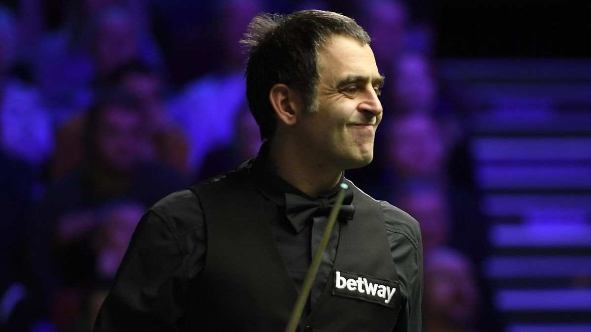 Ronnie O'Sullivan reacts during his match against Ding Junhui in the fourth round of the Betway UK Championship at The Barbican on December 05, 2019 in York, England