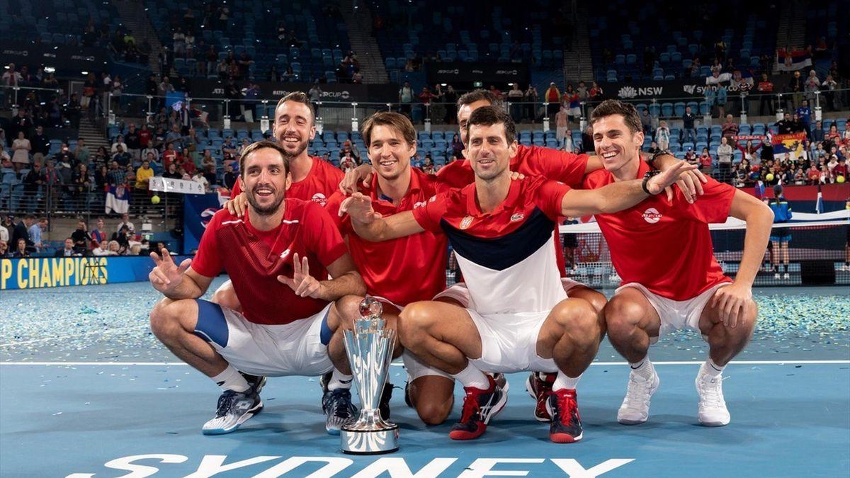 Serbia, deținătoarea titlului ATP Cup
